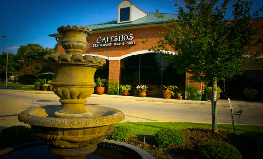 Entrance to Cafesitos Restaurant Wine Bar Grill in Katy, Texas