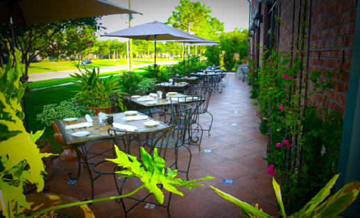 Patio at Cafesitos in Katy, Texas