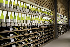 The Veritable Wall of Wine at Cork Wines, West Village, Dallas, Texas