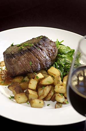 Food and Steak at Fion Wine Pub in Austin Texas Wine Bar Ikal 1150