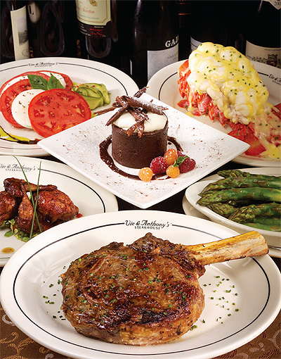 Incomparable food at Vic & Anthony's Steakhouse in Houston Downtown Texas